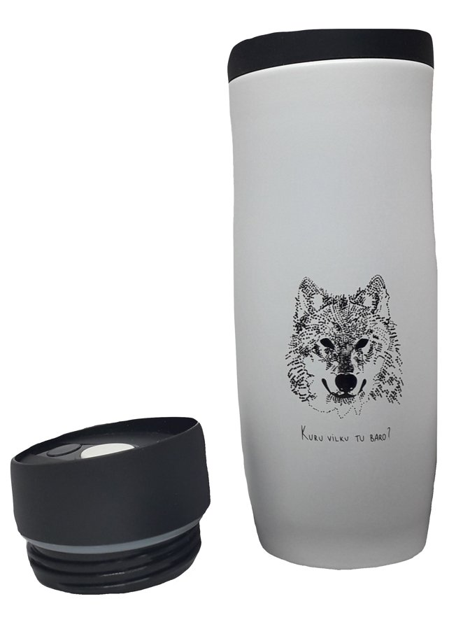 "Stainless steel Thermo mug ""Wolf"""